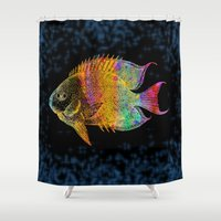 fish Shower Curtains featuring  Fish by Vitta