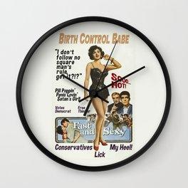 Birth Control Babe Wall Clock