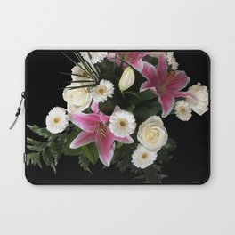 Bouquet on black Laptop Sleeve