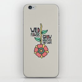 W/LDFLOWER iPhone Skin