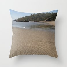 Walking Towards Monkey Island Palolem Throw Pillow