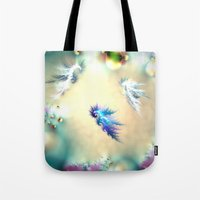 nursery Tote Bags featuring Seahorse Nursery by Shalisa Photography