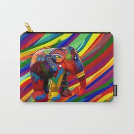 Full Color Abstract Elephant Carry-All Pouch