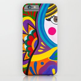 "Matryoshka Mamushka ""Russian doll"" colorful with hand-painted flowers by chulitad iPhone Case"