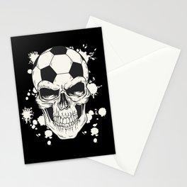 Football Skull - Soccer Skull Stationery Cards