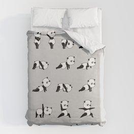 Yoga Bear - Panda Duvet Cover