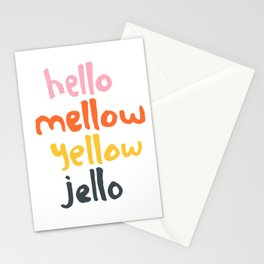 Hello Mellow Yellow Jello Stationery Cards