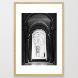 At the Louvre Framed Art Print