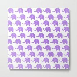 Purple Elephant Parade Metal Print