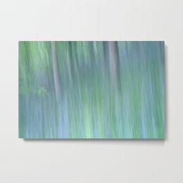 Impressionist Bluebells Metal Print