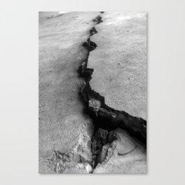 Deep crack Canvas Print