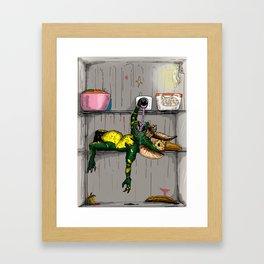 Empty fridge Framed Art Print