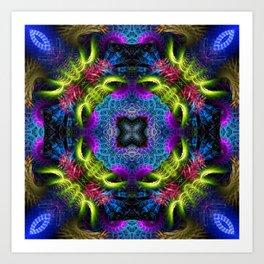 Geometric Fractal - Goa Nights Art Print