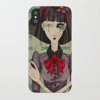 dragonfly iPhone & iPod Cases featuring Dragonfly by Beñat Olea