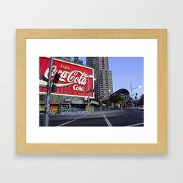 Coca Cola Billboard, Kings Cross, Sydney Framed Art Print