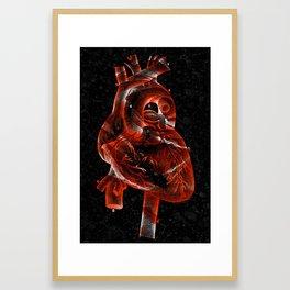 Vintage Rose Heart Framed Art Print