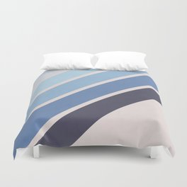 Blue Color Drift Duvet Cover