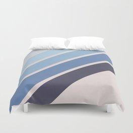 Blue Color Drift Duvet Cover