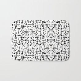 Bird & Flower Pattern Bath Mat