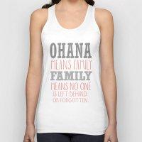 ohana Tank Tops featuring ohana means family.. pink by studiomarshallarts