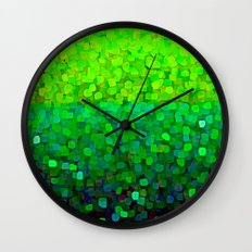 Glitter Sparkles Green Wall Clock