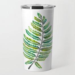 Fern Leaf – Green Palette Travel Mug