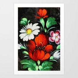 Vintage Flowers 4 Art Print