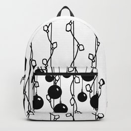 Hanging Ornaments and Christmas Lights - Black Backpack