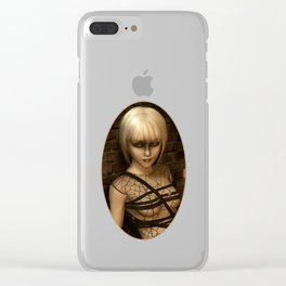 Sad Gothic Girl awaiting the storm Clear iPhone Case