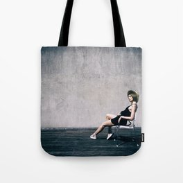 top model with hat Tote Bag