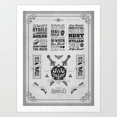 Legend of Zelda - The Hylian Shield Foundry Art Print