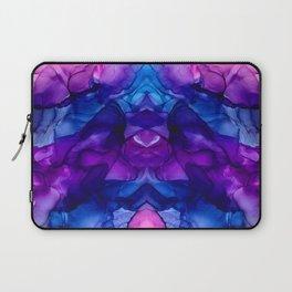 Abstract Rainbow Tie Dye Reflection Laptop Sleeve