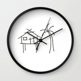 Little Island House Wall Clock