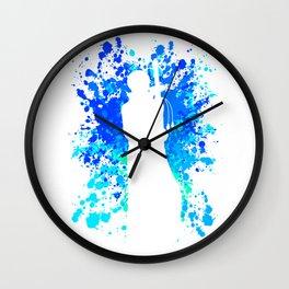 Anime Manga Law Paint Splatter Inspired Shirt Wall Clock