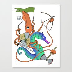 Squid Knight Canvas Print