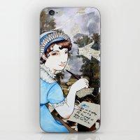 jane austen iPhone & iPod Skins featuring Jane Austen by Makissima