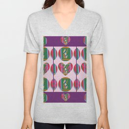 Hearts within Human Circles Unisex V-Neck