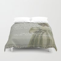 pride and prejudice Duvet Covers featuring Pride and Prejudice by Bonnie J. Breedlove