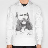moustache Hoodies featuring Moustache by Paul Nelson-Esch Art