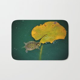 Baby Turtle And Lily Pad Bath Mat