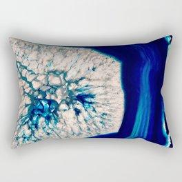 Blue Geode Rectangular Pillow