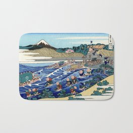"Hokusai (1760-1849) ""The Fuji from Kanaya on the Tokaido"" Bath Mat"