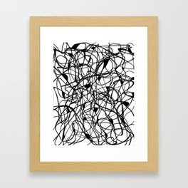 Black and White tangle Framed Art Print