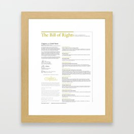 The Bill of Rights (extended version) Framed Art Print