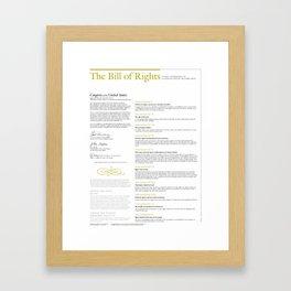 The Bill of Rights (extended version) Framed Art Print