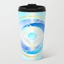 Floating Geometry :: Winter Swirl Metal Travel Mug