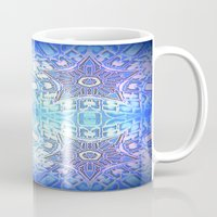 frozen Mugs featuring Frozen Stars Periwinkle Lavender Blue by 2sweet4words Designs