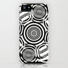 Black and White Party of Circles iPhone Case