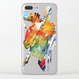 Fun Sea Turtle Swimming Blue Beach School Gift product design Clear iPhone Case