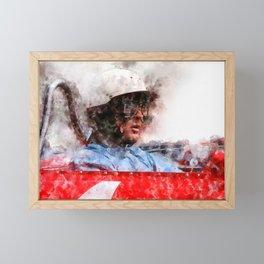 Phil Hill Close Framed Mini Art Print
